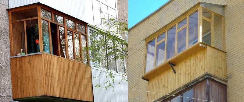 деревянная вагонка для внешней отделки балкона