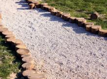 деревянный бордюр для садовых дорожек 2