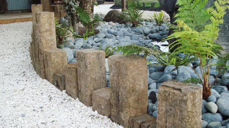 деревянный бордюр для садовых дорожек