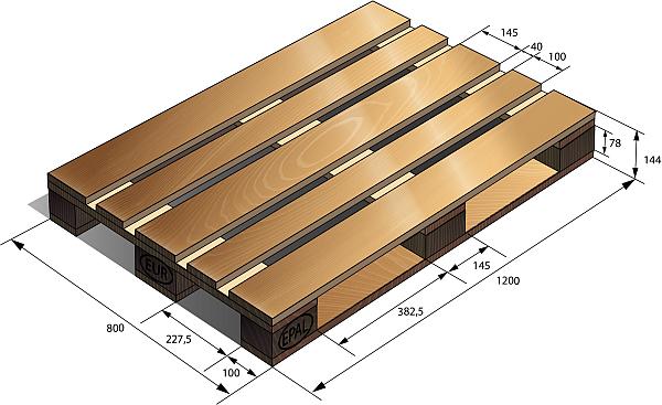 деревянный поддон 2
