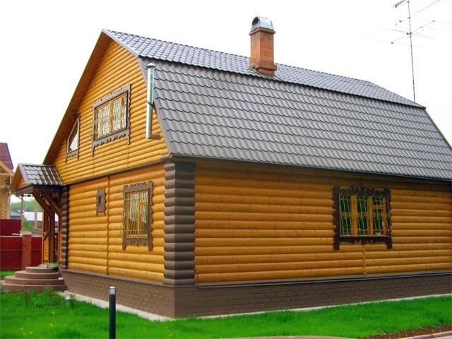 деревянный сайдинг для фасада дома 2