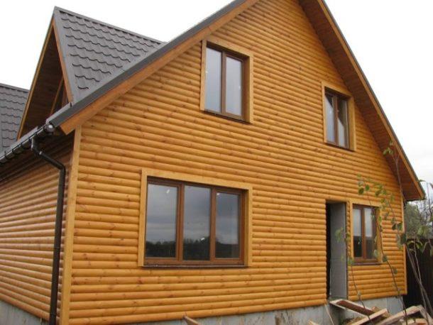 Наружная отделка стен дома деревянным сайдингом