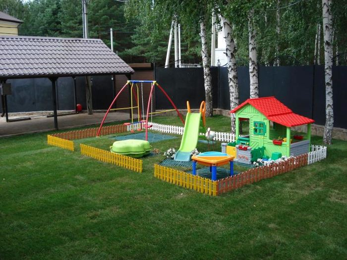Детская площадка своими руками: фото-идеи 37