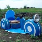 детские машины из шин