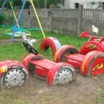 детские машины из шин 2