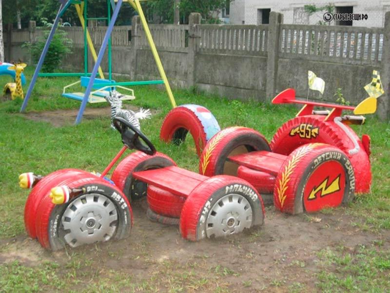Машинка для детей на даче своими руками