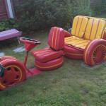 детские машины из шин 3