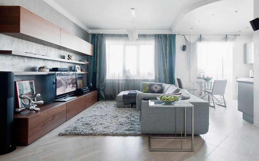 диван в интерьере гостиной 4