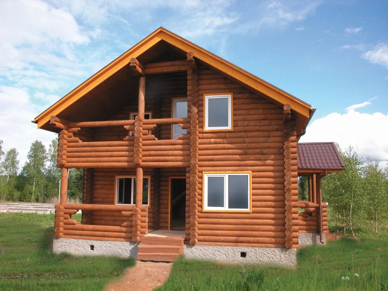 дом из дерева 2
