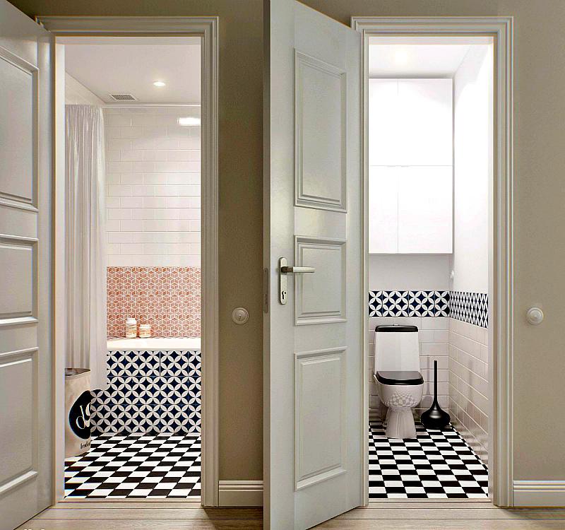 Межкомнатные двери в ванную и туалет: 8 советов по выбору