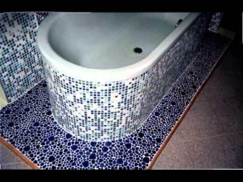 экран для ванной мозаика