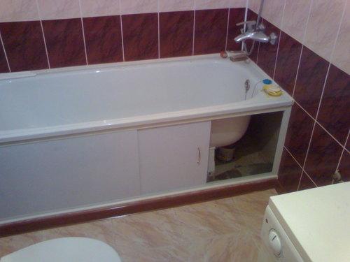 экран для ванной пвх