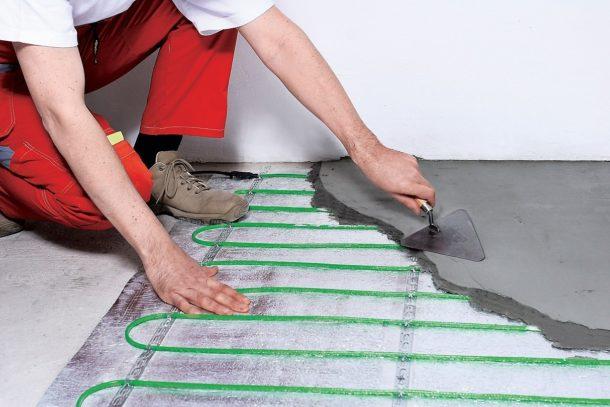 Укладка электрического тёплого пола под бетонный пол