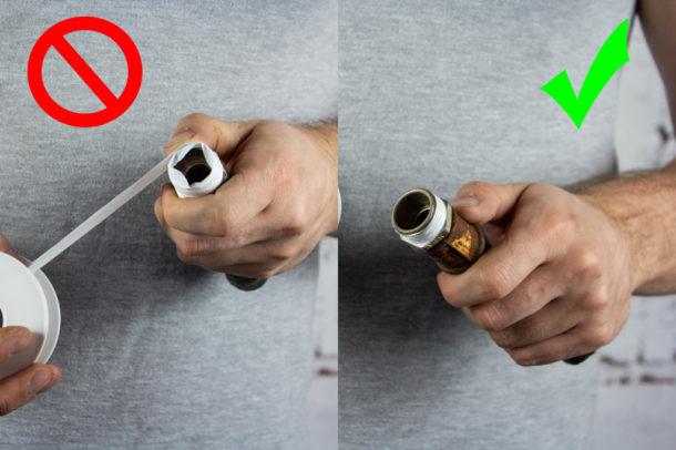 Как наматывать ФУМ-ленту на резьбу - этап 3