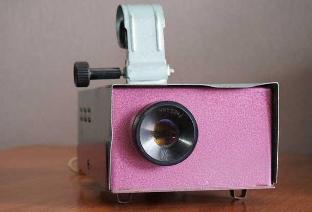 Фильмоскоп для проекции изображения на стену