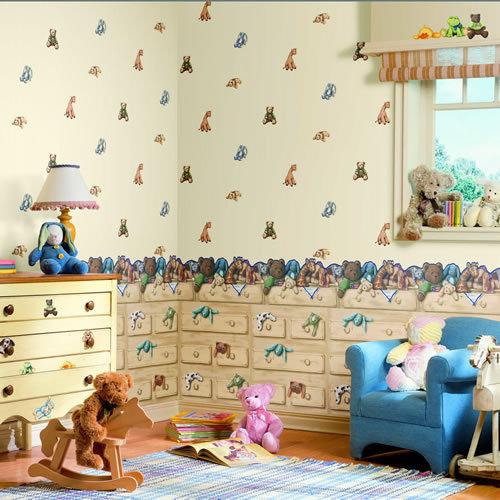 Комбинированные обои для детской комнаты — фото и варианты оформления | 500x500