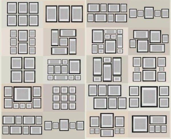 Схемы размещения фотографий: диптихи, триптихи и полиптихи