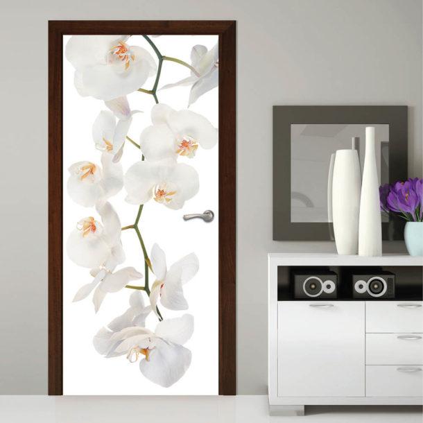Фотообои на дверь с цветами