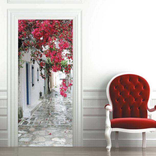 Виды фотообоев для оклейки дверей по типу материала