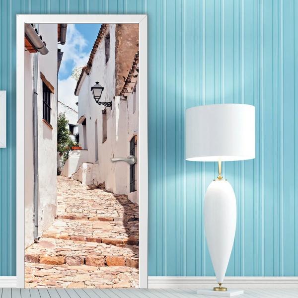 Текстура фотообоев на дверь