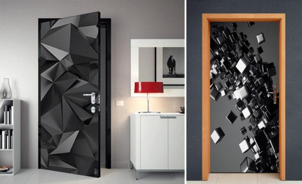 Фотообои на дверь с дизайном абстракция