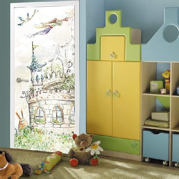 фотообои для дверей детской комнаты
