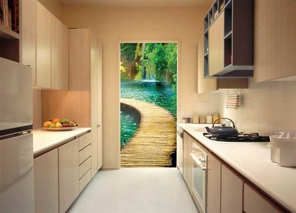 фотообои для дверей кухни