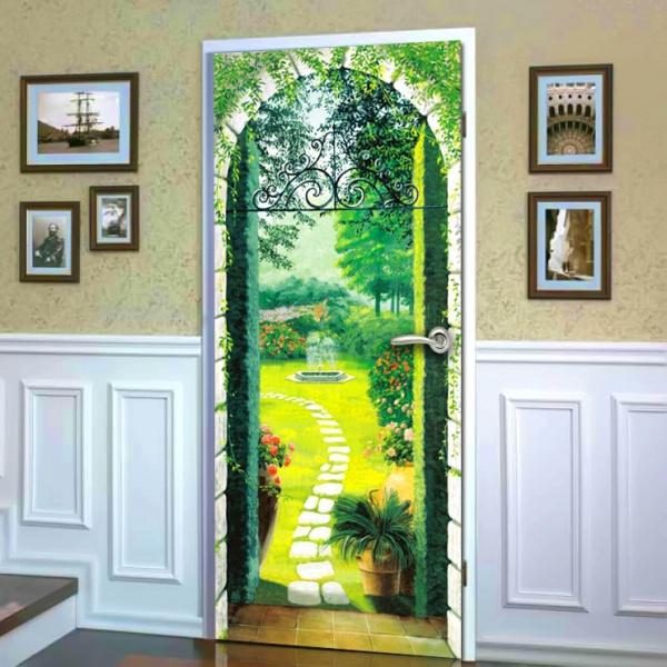 Фотообои для входной двери