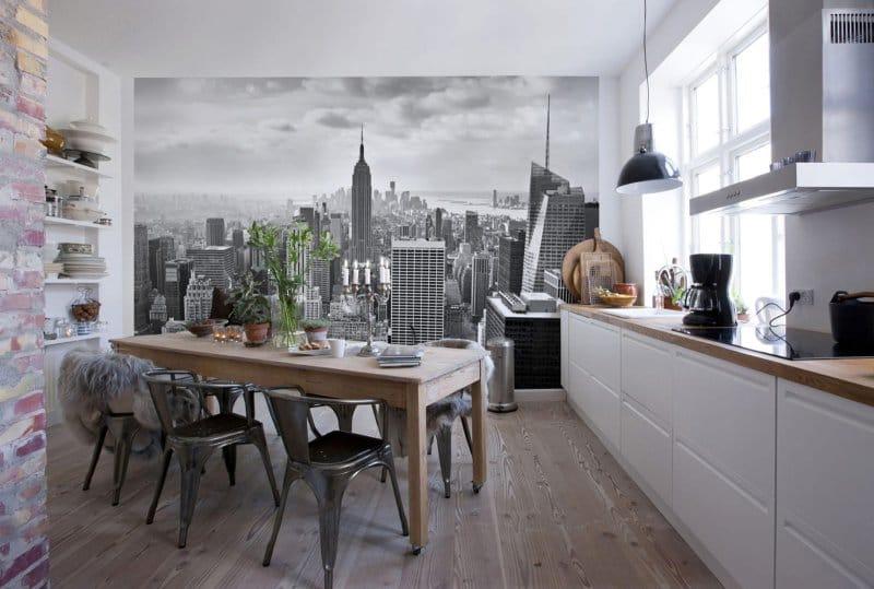 Фотообои в интерьере кухни: 9 советов по выбору и оформлению