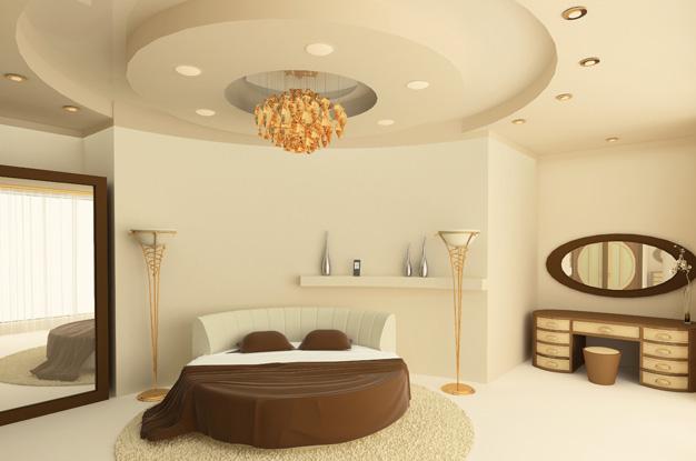 гипсокартон для потолка в спальне 2