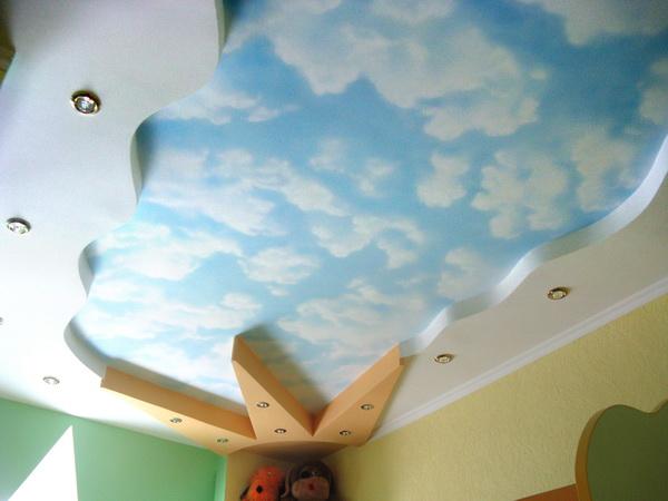 гипсокартон потолки в детской