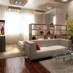 Дизайн гостиной совмещенной с спальней