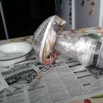 гриб  из пластиковых бутылок 2