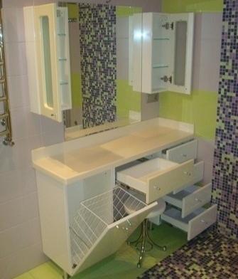 Дизайн туалетного столика для ванной