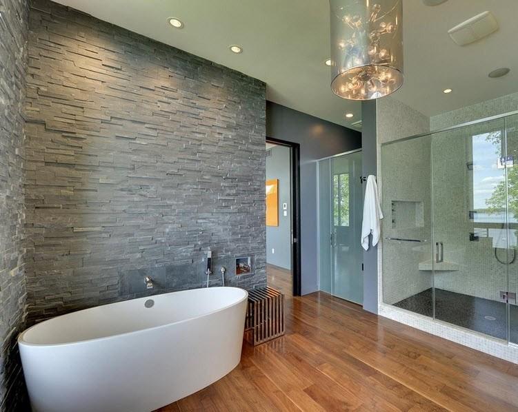 искусственный камень для отделки стен ванной комнаты