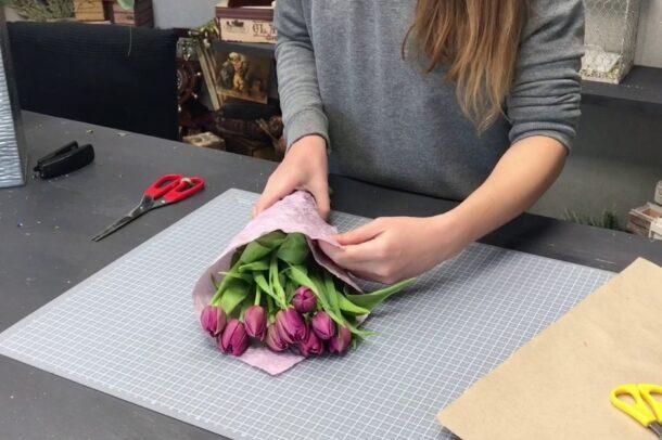как сохранить букет тюльпанов