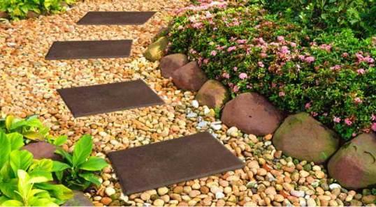 каменный бордюр для садовых дорожек 2