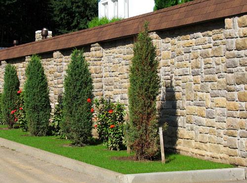 каменый забор для участка
