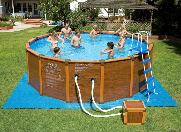 каркасный бассейн маленький