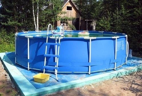 каркасный бассейн стержневой