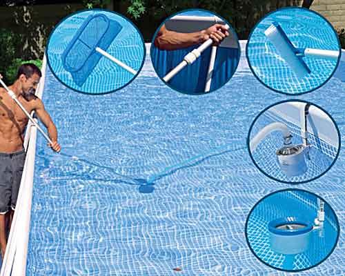 каркасный бассейн уход