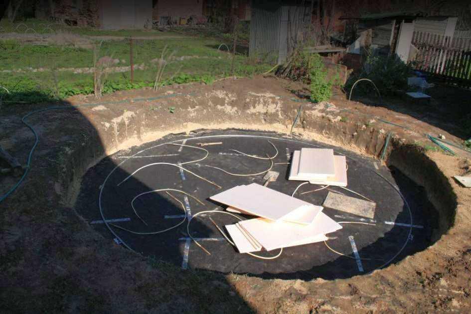 каркасный бассейн установка 2
