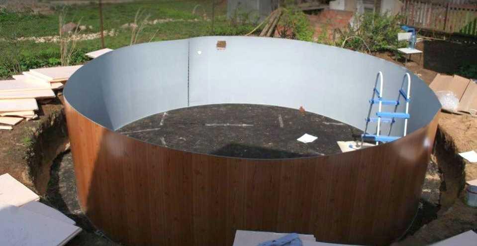 каркасный бассейн установка 3