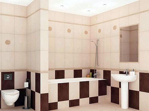 керамическа плитка для отделки стен ванной комнаты