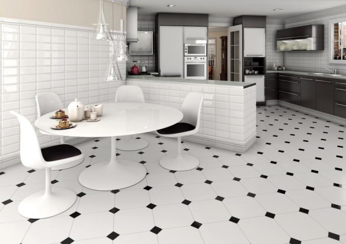 керамическая плитка на пол для кухни 2
