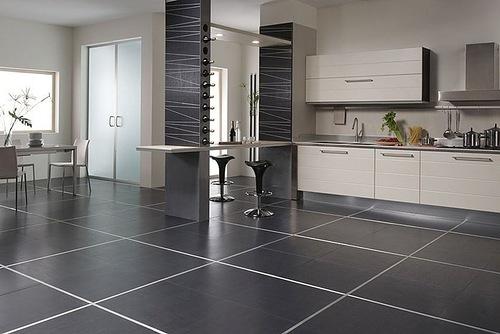 керамическая плитка на пол для кухни 3