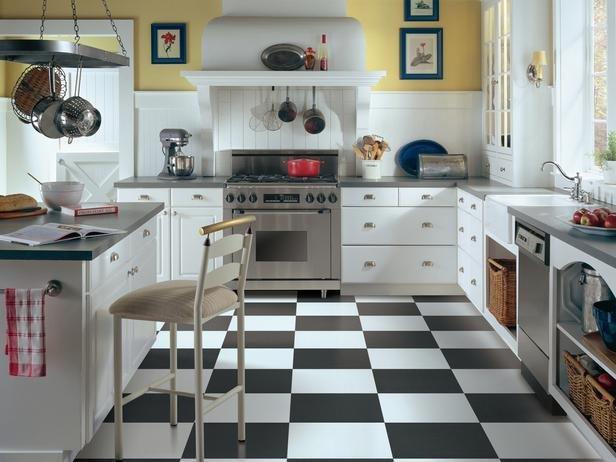 керамическая плитка на пол для кухни 4