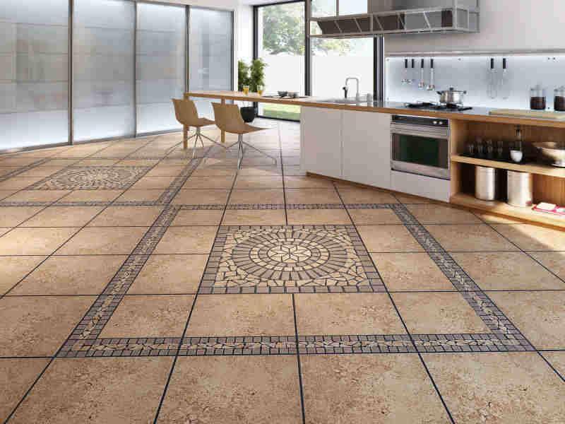 керамическая плитка на пол для кухни 5