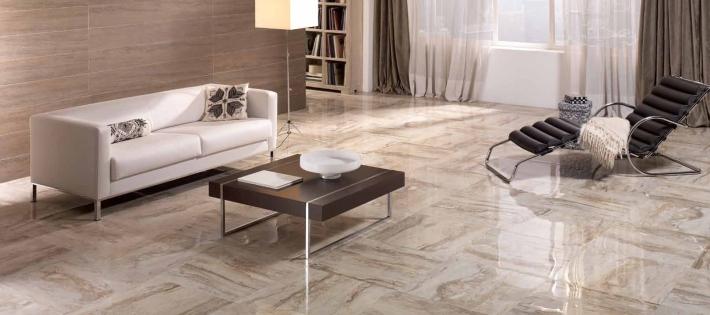 керамическая плитка в гостиной 2