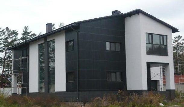 Керамогранитная плитка для отделки фасада дома